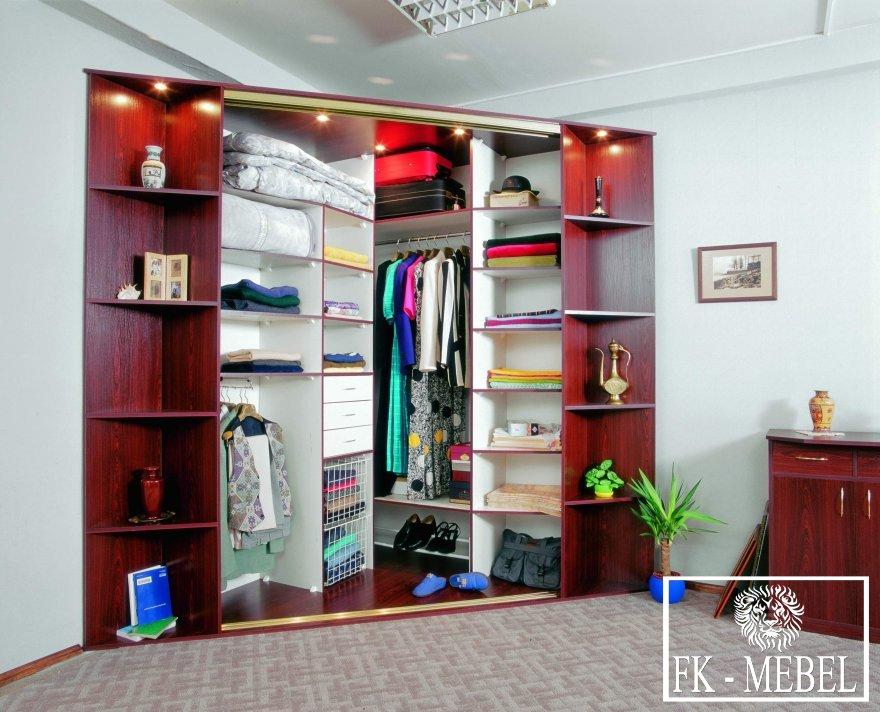 Угловой шкаф гардеробная фото с размерами